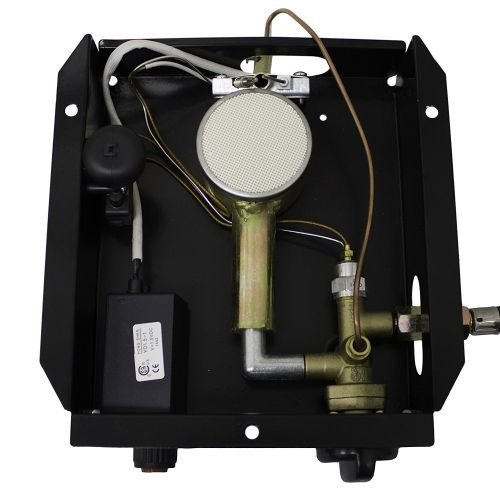 Hiland 3BOLT SGT-Burner 3 Bolt Hole Pattern Burner for Square Glass Tube Patio Heater w/Regulateor, One Size, Grey by Hiland