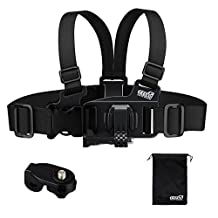 EEEKit Junior Child Kid Chest Body Harness Mount for VTech Kidizoom Action Cam Gopro Hero 5 4 Session Hero 3+ 3 LCD+ 360Fly Cymas DBPower Lightdown Sports Camera