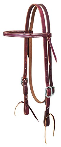 Weaver Leather Working Tack Stainless Steel Economy Browband Headstall ()