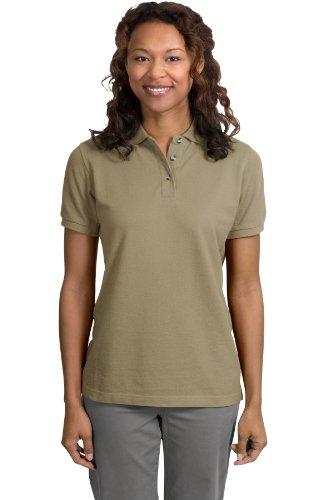 Port Authority Ladies Pique Knit Sport Shirt, 4XL, Khaki Heather