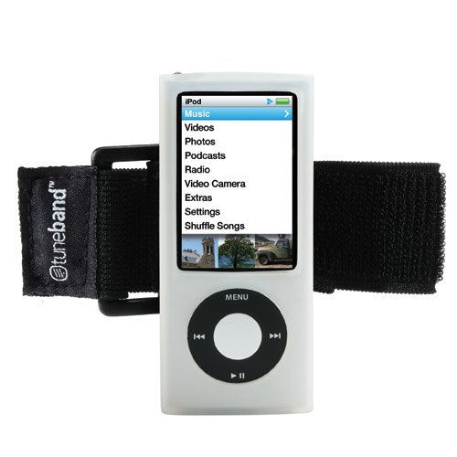 TuneBand for iPod nano 5th Generation (Model A1320, Rear Camera), Premium Armband, Compatible with Nike+iPod, CLEAR (A1320 Ipod)