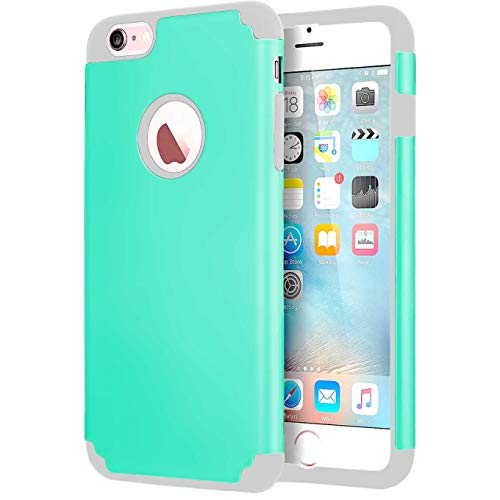 CaseHQ Case for iPhone 6 Plus Case,iPhone 6s Plus 5.5 inch Case,Slim fit Rubber PC Shockproof Cover Case with Heavy Duty Protection Dual Layer Scratch Resistant Phone-Teal