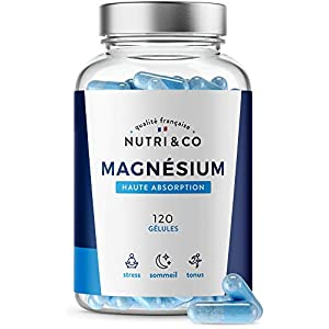 Magnésium Végétal + Vitamine B6 Bio-active | Teneur Égale au Magnésium Marin & Absorption Supérieure au Bisglycinate…