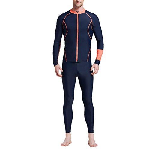 Zhuhaitf Premium Quality Unisex Fitness Surfing Suit Swimsuit 2838 Blue