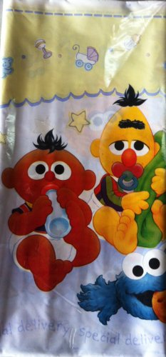 Sesame Street Beginnings Baby Shower Table Cover by Designware (Baby Sesame Street Party Supplies)