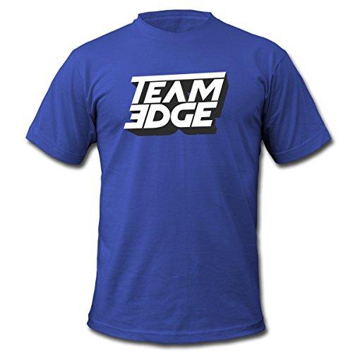 Spreadshirt Team Edge Logo Men's Fine Jersey T-Shirt, S, Royal (Blue Team Logo T-shirt)