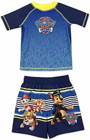 6812ca036c3de Dreamwave Toddler Boy Authentic Character Rash Guard and Swim Trunk Set UPF  50