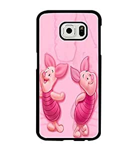 Cute Samsung Galaxy S6 Case, Winnie the pooh piglet Disney Anti Dust Unique Pattern Protection Case