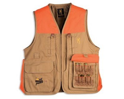 Browning Pheasants Forever Vest, Khaki/Blaze, X-Large (Browning Cot)