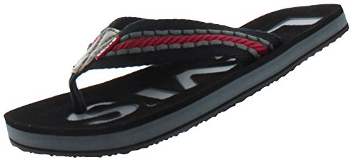 Levi's Mens Kyle Casual J Sandals in Black/Grey/Red 11 US