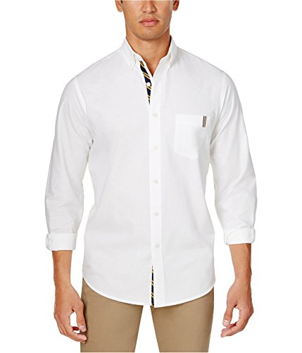 Club Room Men's Classic-Fit Solid Oxford Shirt Bright White XL ()
