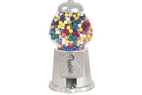 "CHH GM0015-SLV 15"" Silver Color Gumball Machine Home Decor Toy Accessory Display from CHH"