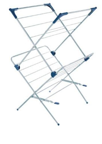 Polder Two-Tier Free Standing Clothes Drying Rack with Mesh Garment - Standing Dryer Floor