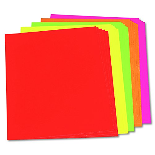 Pacon 104234 Neon Color Poster Board, 28 x 22, Green/Orange/Pink/Red/Yellow (Case of 25) by Neon