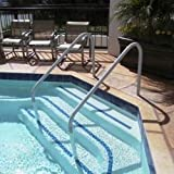 Saftron DTP-248-W Deck to Pool 2 Bend Handrail - 48 in. White