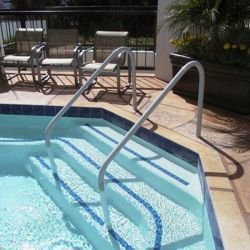 Saftron DTP-248-W Deck to Pool 2 Bend Handrail - 48 in. (2 Bend Handrail)