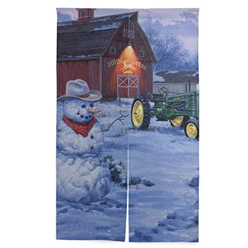 John Deere Tapestry - ATMAYW John Deere Winter Christmas Japanese Noren Doorway Curtain/Tapestry 34