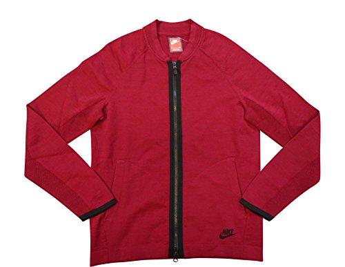 Nike Sportswear Mens Tech Knit Bomber Jacket 810558 Jumper (Small, red 677)