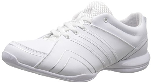 adidas Performance Women's Cheer Flyer Training Shoe,White/Silver/Silver,9.5 M US