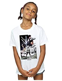 Star Wars Girls The Last Jedi Character Poster T-Shirt 9-11 Years White