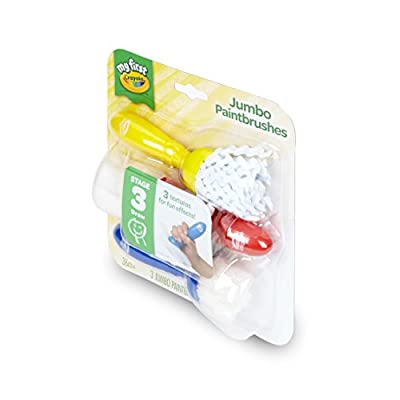 Crayola My First Jumbo Toddler Paint Brushes, Painting for Toddlers, 3ct: Toys & Games