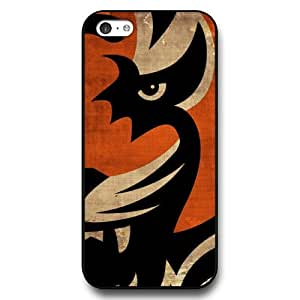 UniqueBox Customized NFL Series Case for iPhone 5C, NFL Team Cincinnati Bengals Logo iPhone 5c Case, Only Fit for Apple iPhone 5C (Black Hard Shell)