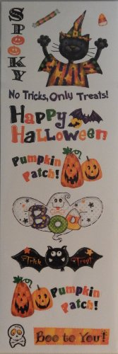 Halloween Stickers by Recollections - Sheet of 12 -