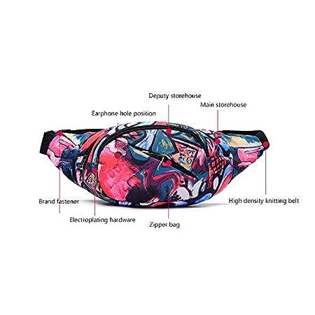 Flor de Primavera Hosaire 1X Cintura Bolsa M/últiple Funci/ón Ri/ñoneras Bandolera,Estilo Deslumbrante,F/ácil de Llevar Pasaporte,Cargador,Telefono movil,para Correr Senderismo Ciclismo Camping