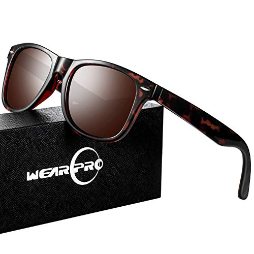 Mens Sunglasses for Men Women Vintage Polarized Glasses WP1001(leopard/brown) (From Is Made Resin What)
