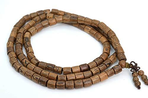 8x8MM 108 Pcs Fragrant Senna SiameaMala Beads Natural Round Tube Beads 35