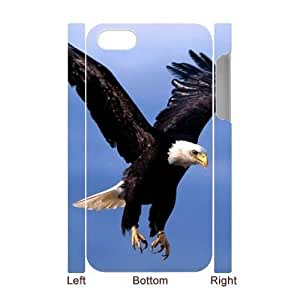 Bald Eagle Personalized 3D Cover Case for Iphone 4,4S,customized phone case ygtg579657