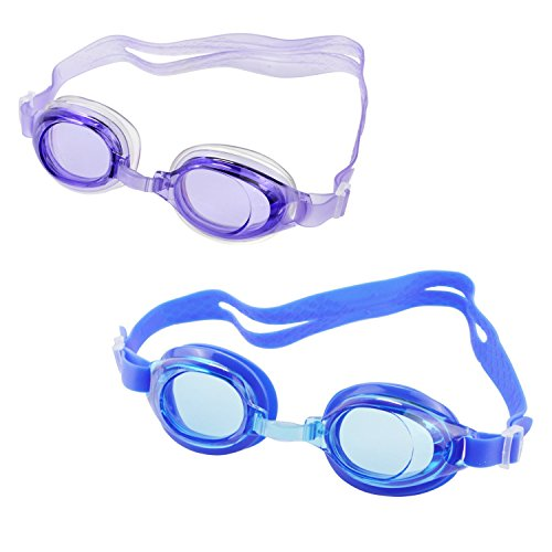 Kids Swimming Goggles,ViMall Comfort Anti-fog Waterproof Shatterproof Silicone Swim Sport Glasses W/ Wide UV Protection Lenses and Adjustable Strap for 3-9 Year-Old Children - Frame For Eyeglasses Teenager