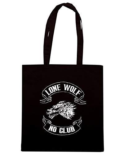 WOLF Nera CLUB LONE TB0089 Borsa Shopper NO aIw877
