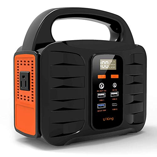 U`King 150W Portable Power Station, 155Wh Backup Lithium Battery Power Supply Portable Power Generator with 110V AC Outlet, Solar Generator for Outdoor Travel Home Camping Emergency Uncategorized