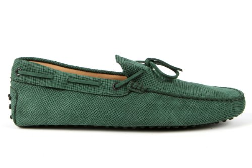 Tod's Mens Shoes Green Gommino Front Tie Moccasins USA Size 7 (Printed Size 6) T115