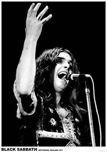 Art-I-Ficial Black Sabbath Ozzy Osbourne Rotterdam Holland 1971 Music Concert Black and White Poster 23.5x33 Inch