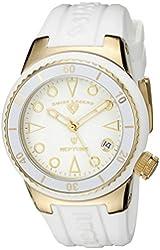 Swiss Legend Women's 11840D-YG-02-WHT Neptune White Dial White Silicone Watch