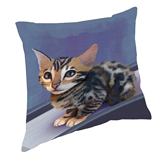 Bengal Cat Throw Pillow (26x26)