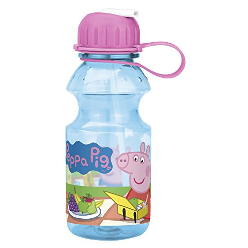 Zak Designs Peppa Pig 14oz Kids Water Bottle with Straw - BPA Free with Easy Clean Design, Peppa Pig -