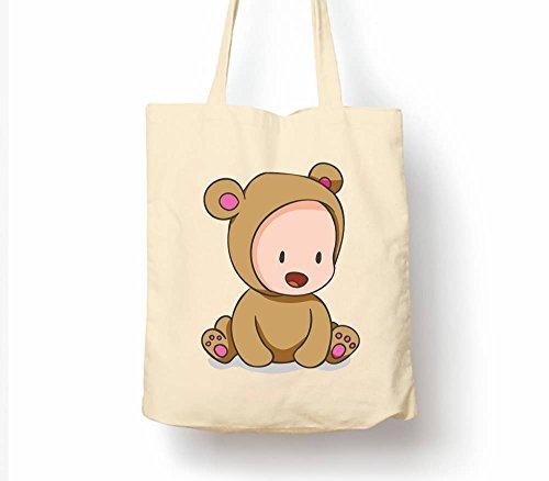 Cute Baby Tiere Teddy Bear–Tasche, natur Einkaufstasche, umweltfreundlich Eco Friendly