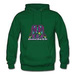 Ega Styling X-large Hoodies Women Cotton For Green
