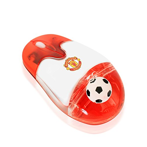 Manchester United Soccer Logo (Soccer Gift 2.4G Wireless Mouse with USB Nano Receiver Optical Durable Comfortable, Ball in Liquid EPL, Manchester United Logo, Computer PC Laptop Futbol Fan Unique Uncommon Gaming(Manchester United))