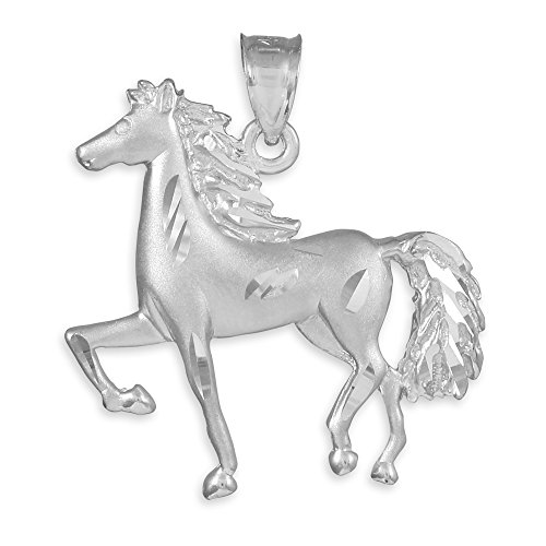 10 ct 471/1000 Diamant Coupe Or Blanc-Cheval- Pendentif