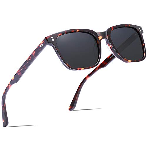 Carfia Chic Retro Polarized Sunglasses for Women UV400 Protection Driving Outdoor ()