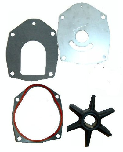 Water Pump Impeller Service Kit for Mercruiser Alpha One Gen II Replaces 47-43026T2 with Wear Plate and Gaskets primary