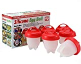 BAKElyf Cookware Egglette Egg Cooker | Silicone Egg Poachers for Easy Soft and Hard Boiled Eggs Without The Shell | Non-Stick Egglettes with Improved Silicone Egg Cups -BPA Free | Egglettes (6 Pack)