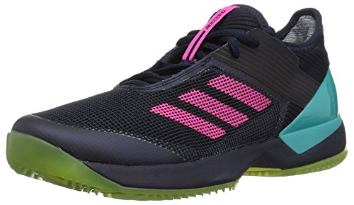 adidas Women's Adizero Ubersonic 3 Clay Tennis Shoe, Legend Ink/Shock Pink/hi-res Aqua, 8.5 M US