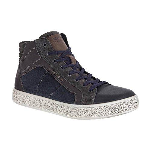 Pelle Sneaker Uomo Alta Igi Nera amp;co In gSv7Y