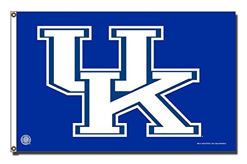 Rico Industries NCAA Kentucky Wildcats 3-Foot by 5-Foot Single Sided Banner Flag with Grommets