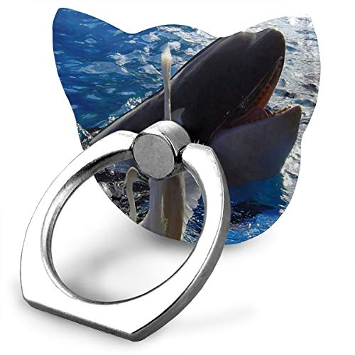 Ring Phone Holder Cat Shape Adjustable 360° Rotation Hello Friend Birds Whale Finger Ring Stand Fit Phone X/6/6s/7/8/8 Plus/7, Galaxy, Android, Smartphone